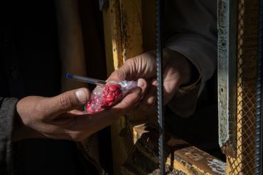 Une prescription, hôpital de Batikot, Afghanistan, 2019