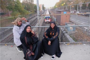 Three Muslim Women in the Bronx, New York, 2018