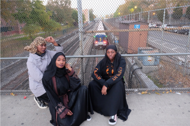 Three Muslim Women in the Bronx, New York, 2018