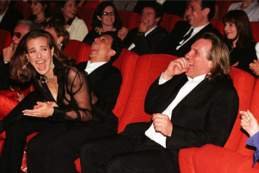 Fou rire de Carole Bouquet et Gerard Depardieu, 1998