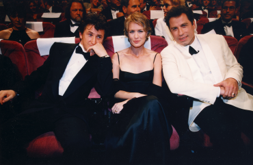 Sean Penn, Robin Wright et John Travolta, 1997