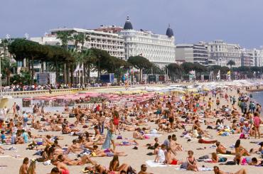 Bronzette lors du Festival de Cannes, 1992