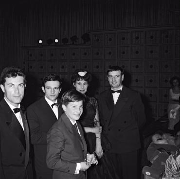 Francois Truffaut et Jean Pierre Leaud, 1959