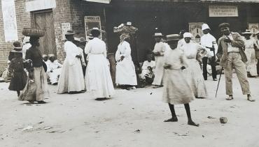 Le Jubilee market de Kingston, Jamaïque, vers 1905