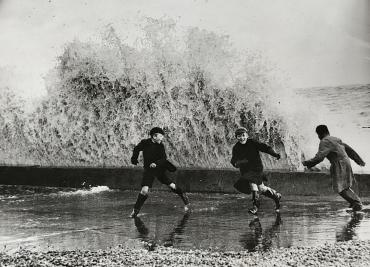 Mauvais temps en Angleterre, Hastings, 24 octobre 1937