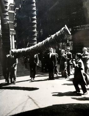 Course aux paniers, Londres, 1951