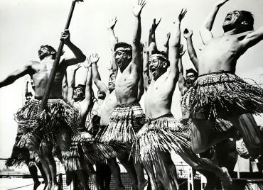 Les Maoris au couronnement d'Elizabeth II, Portsmouth, 1953