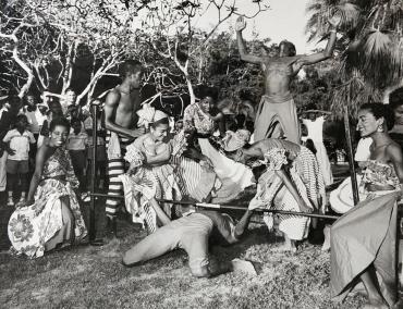 Des danseurs de Calypso pour la princesse Margaret, Antilles, 1958