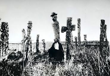 Cimetière Araucan, Chili, vers 1930