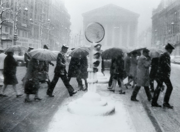 Tempête de neige sur Paris, 1970