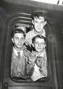 L'arrivée en gare du Nord, Paris, 1949