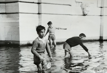 L'automne à Paris, vers 1950
