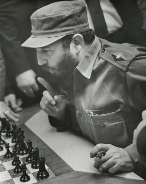 Castro, champion d'échecs, Cuba, 1970