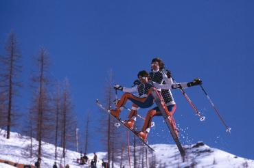 Skieur freestyle à Breuil-Cervinia