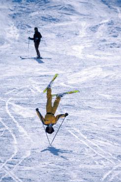 Acrobatie à ski d'Hedy Garhammer, 1984