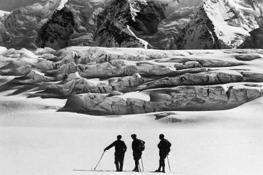 Formation rocheuse dans les Alpes suisses, 1933
