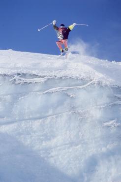 Démonstration de ski acrobatique, 1989
