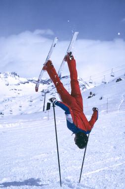 Acrobatie à ski de Robin Wallace, 1985
