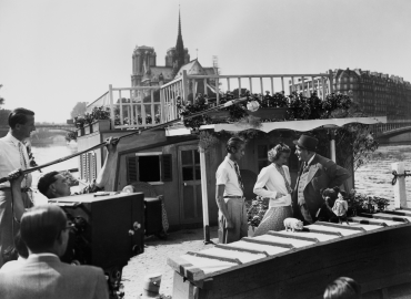 Tournage du film « L'éducation d'un prince », 1938