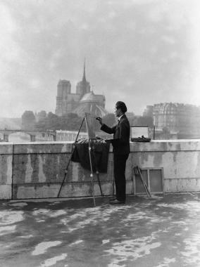 Peintre sur les quais à Paris, 1931