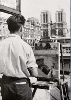Le peintre, la cathédrale et le pont, vers 1960