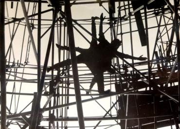 Toile d'acier et ses araignées, vers 1950
