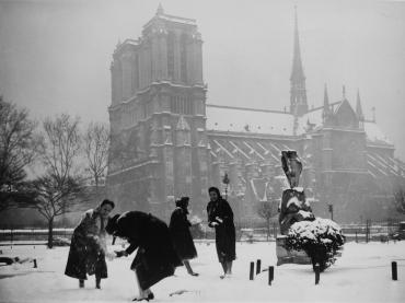 Paris sous la neige #3, vers 1950