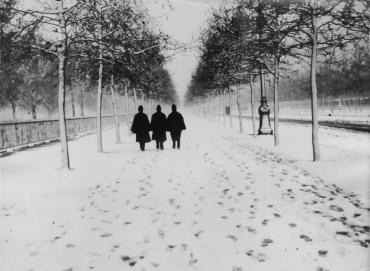Hyde Park sous la neige, 1929
