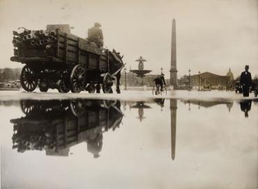 Orage sur la place de la Concorde, vers 1930