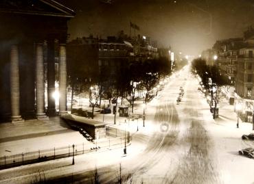 Paris sous la neige, Eglise de la Madeleine