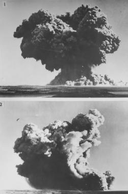 Premières photographies des tests atomiques britanniques sur les îles Montebello, 1952