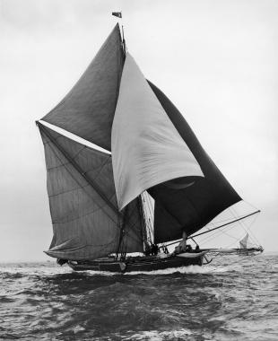 Le SIRDAR Turc à la course du Thames Sailing Barges, 1962