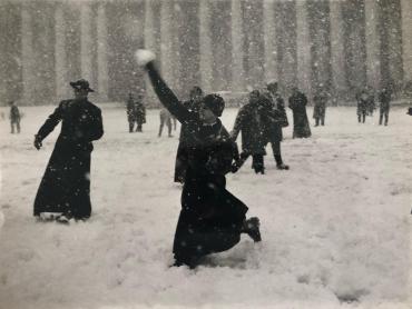 Les séminaristes sous la neige, Rome, 1965
