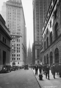 Vue de Wall Street, 1929