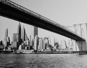 Le pont de Manhattan, New York, vers 1940