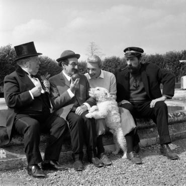Sur le tournage de « Tintin et les oranges bleues », 1964