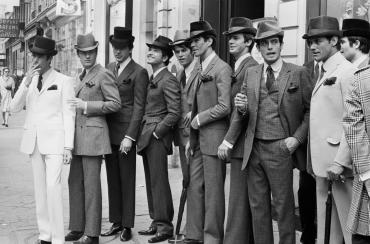 Les mannequins masculins de Pierre Cardin