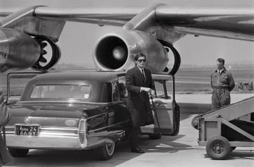 Alain Delon en tournage, 1969
