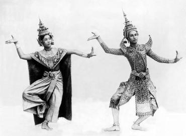 Couple de danseurs siamois au début du XXème siècle, Thaïlande, 1939