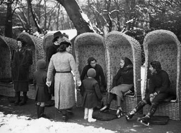 Patinage au bois de Boulogne, 1938