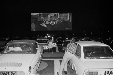« At the drive-in », Rungis, 1970