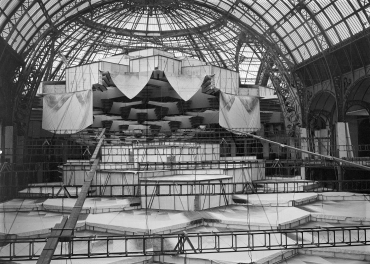 Aménagements du Grand Palais pour le Salon de l'Automobile, 1935